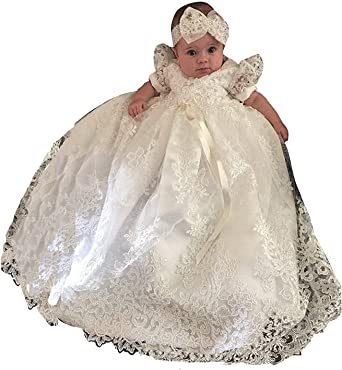 New Baby Unisex First Communion Dresses Baptism Christening Gowns Robes Custom