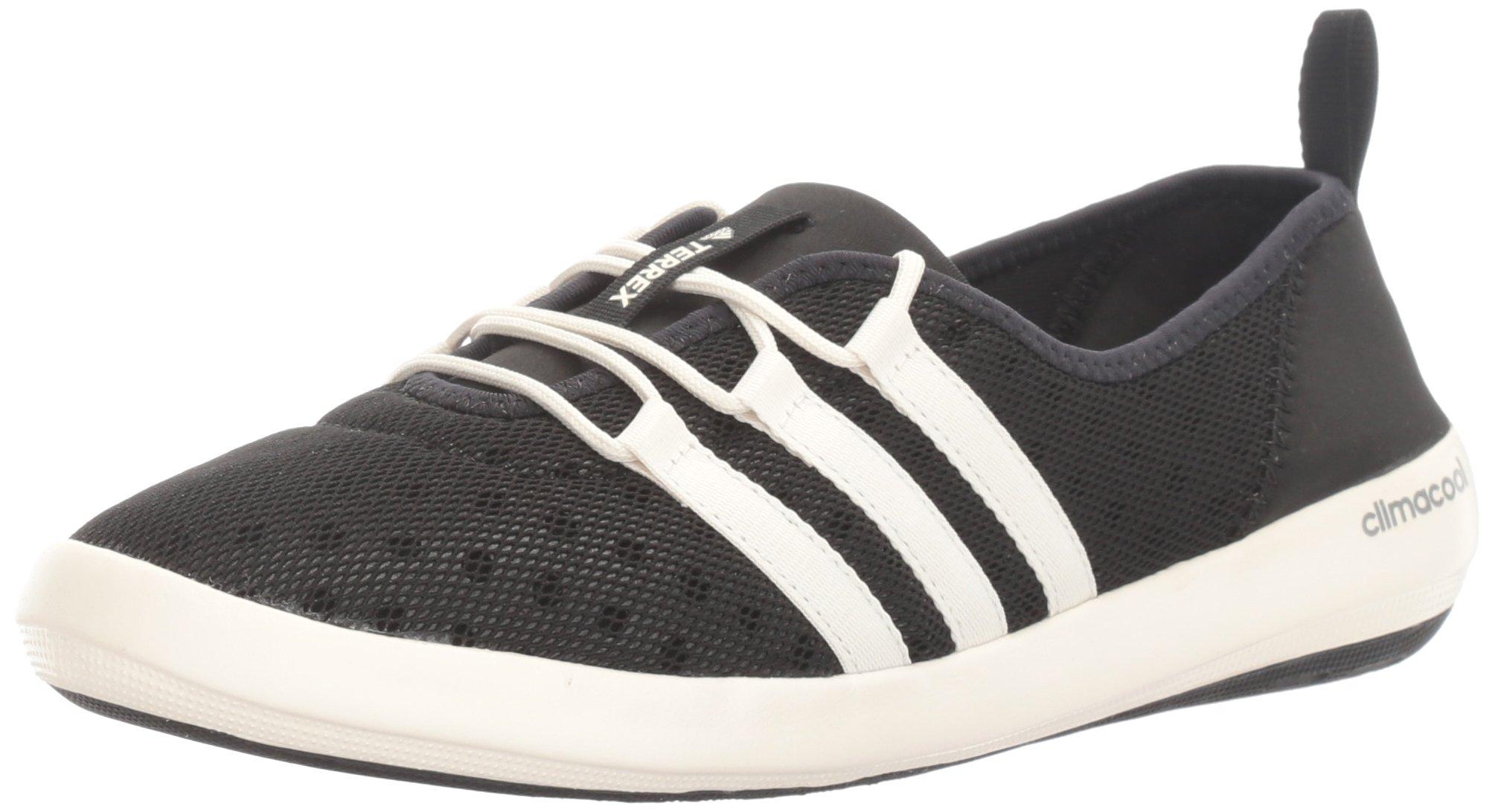 adidas outdoor Women's Terrex Climacool Boat Sleek Water Shoe, Black/Chalk White/Matte Silver, 10 M US