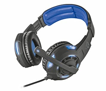 Trust Gaming GXT 350 Radius 7.1 Gaming Headset for PC and Laptop -  Black Blue 0fa0b4892a