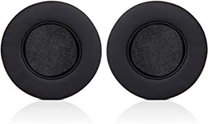 ManO'War Earpads, JECOBB Replacement Memory Foam Ear Cushion Kit Pad Cover with Protein Leather & Memory Foam for Razer ManO'War Headphone ONLY (Black)