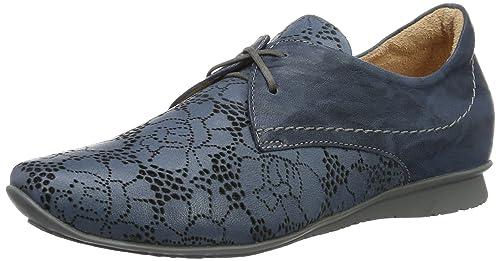 Think Chilli, Zapatos de Cordones Derby para Mujer, Azul (Saphir/Kombi 90), 37 EU: Amazon.es: Zapatos y complementos