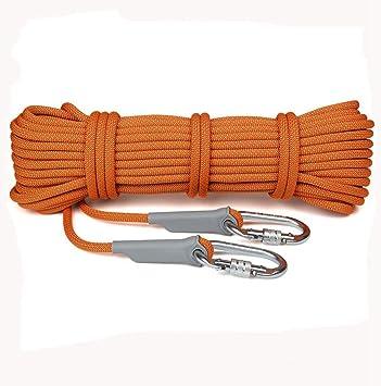 Dometool Cuerda de escalada, 10.5mm diámetro 25KN Abseiling cuerda al aire libre Excursiones accesorios de alta resistencia cuerda