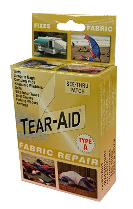 83b1cead Amazon.com: Tear-Aid Fabric Repair Kit, Gold Box Type A: Northwest River  Supplies: Sports & Outdoors