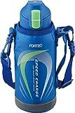 和平フレイズ 水筒 ワンタッチ栓ダイレクトボトル 0.6L フォルテック・スピード ブルー FSR-7368