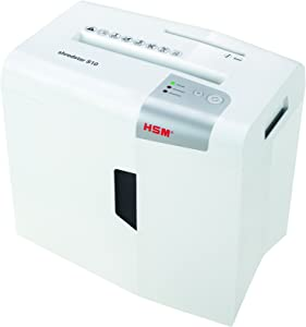 HSM S10 Shredstar 10-Sheet, Strip-Cut, 4.8 gal Capacity Paper Shredder with Separate CD Slot, White