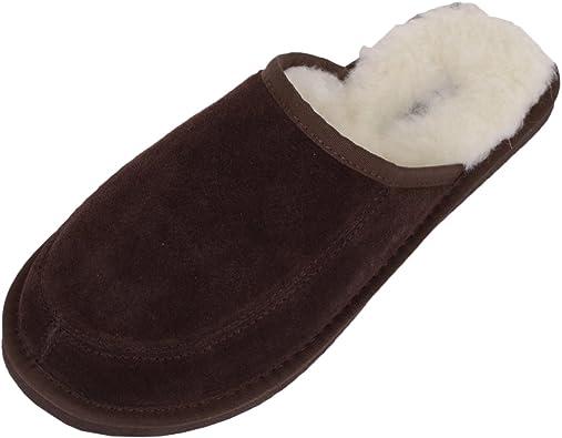 Euro 45 From Peru Men 11.5 New Alpaca Brown Slippers White Fur Sizes Women 13