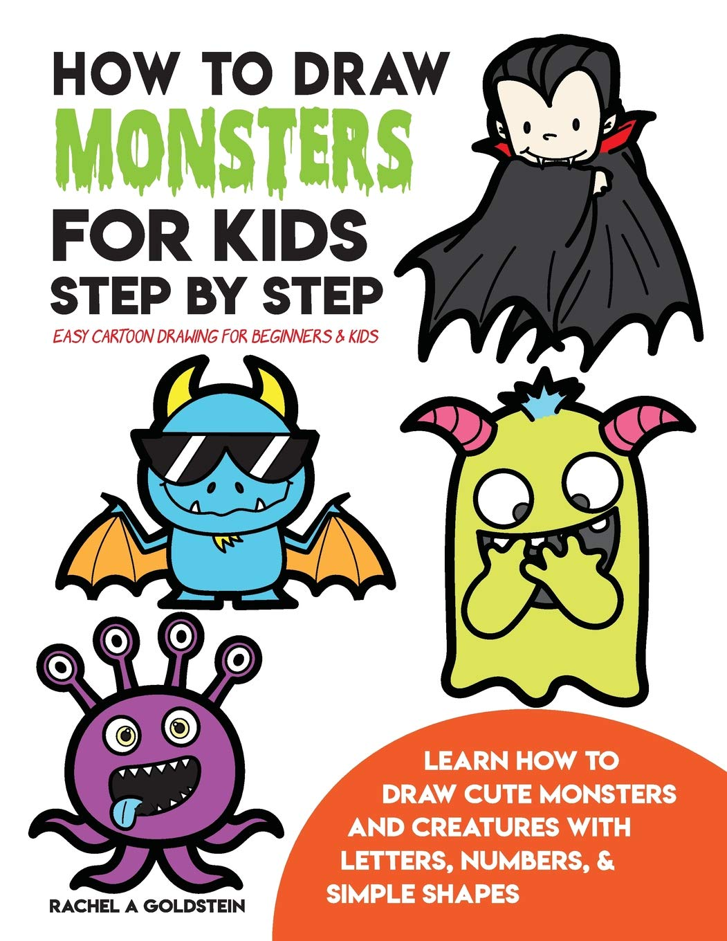 How to draw monsters for kids step by step easy cartoon drawing for beginners kids learn how to draw cute monsters and creatures with letters