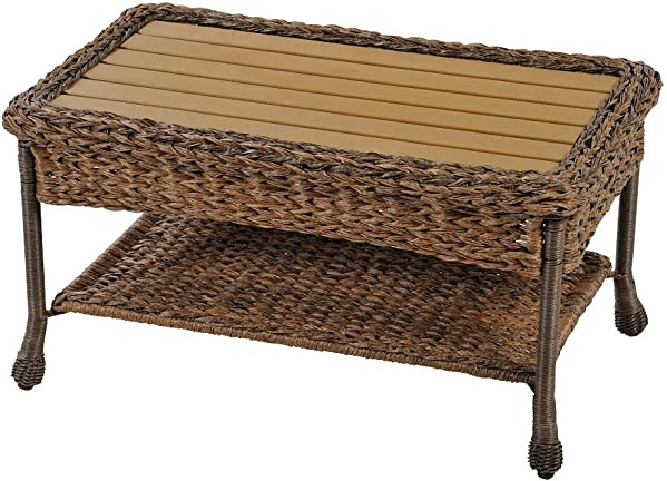 W Unlimited Outdoor Faux Sea Grass Garden Patio Coffee Table