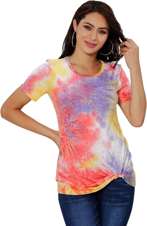 NEW Womens Tie Dye T-Shirt Size MED CASUAL V-Neck  NWOT