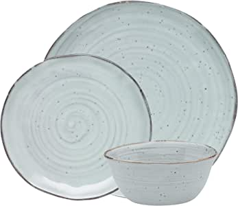 ECOLOGY EC0129 Ottawa Lichen 12 Piece Dinner Set, Green, EC0129