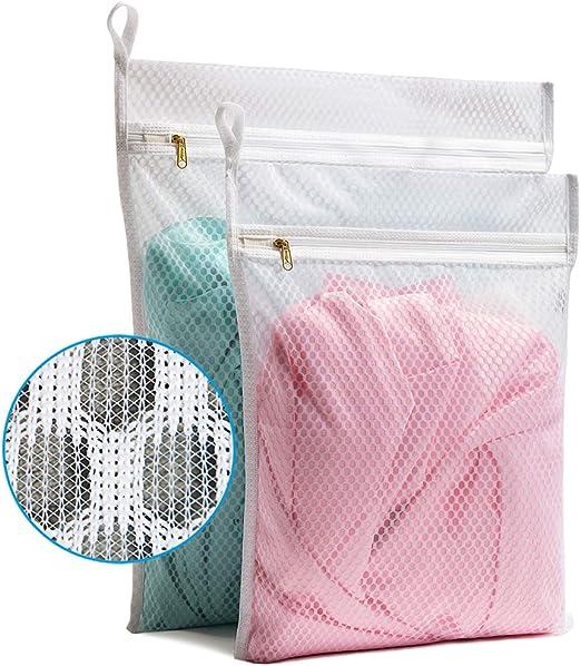 8pcs//Set Zipper Mesh Laundry Bags Clothes Bra Lingerie Net Wash Bag Pouch