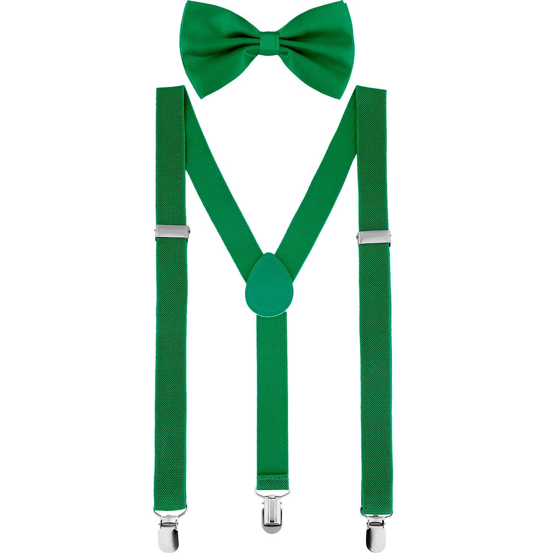 6d5c4e4ccf41 Amazon.com: Satinior Suspender Bow Tie Set Clip On Y Shape Adjustable  Braces, Suspenders Pant Braces Adjustable Shoulder Straps for Men, Women,  ...