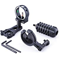 Tabiger Archery Essential Accessory Combo 3-pin Bow Sight, Arrow Rest, Stabilizer - Black