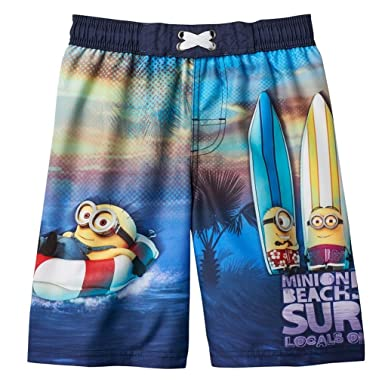 d727cd7444 Image Unavailable. Image not available for. Color: Despicable Me Minions  Boys Swim Trunks ...