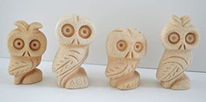Amazon Com Owl Of Athens 4 Small Statues Symbol Of