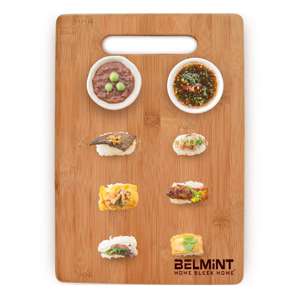 Premium Bamboo Cutting Board Set of 4 - Eco-Friendly Wood Chopping Boards with Juice Groove for Food Prep, Meat, Vegetables, Fruits, Crackers & Cheese - 100% Natural Bamboo Craftsmanship. by: Bambusi by Bambüsi (Image #8)