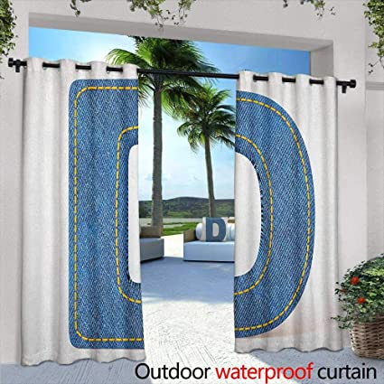 Amazon.com: Letter D Curtains for Bedroom Retro Fashion ...