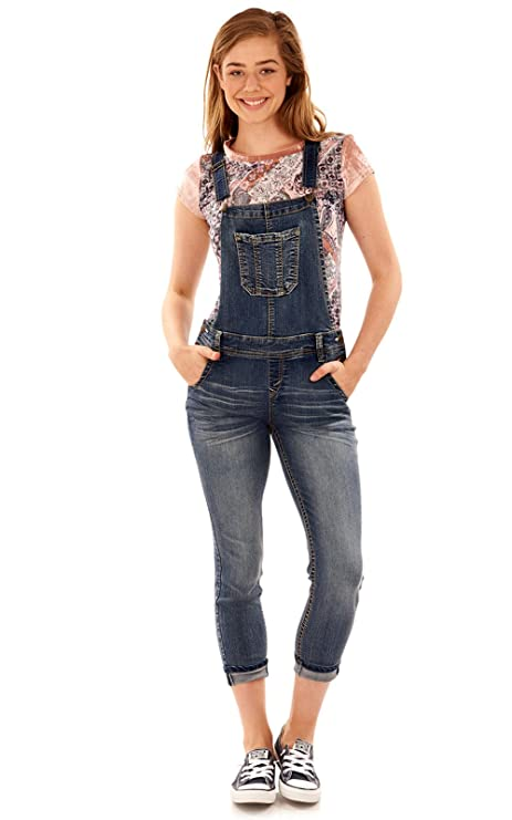 WallFlower Juniors Denim Overalls in ICY, Small best juniors' overalls