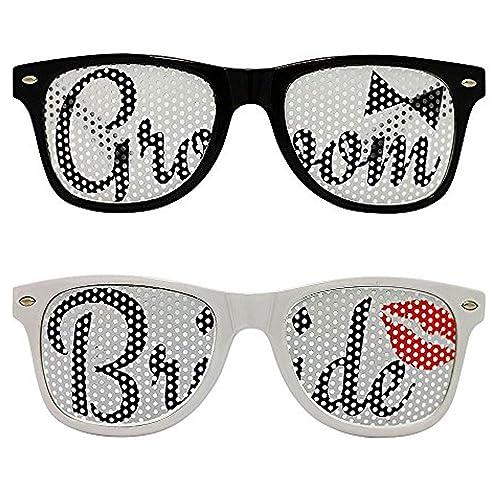 dffd6de138 Amazon.com  Chades Wedding Bride and Groom Sunglasses Set  Shoes
