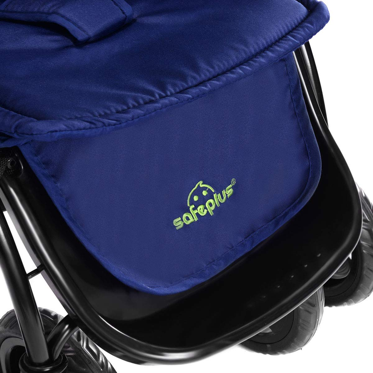 Large Storage Basket HOMGX Two-Way Baby Stroller with Oriented Front Wheel and Lockable Rear Wheel Foot Cover deep Blue 2 in 1 Compact Folding Stroller Includes Adjustable Canopy Back Seat