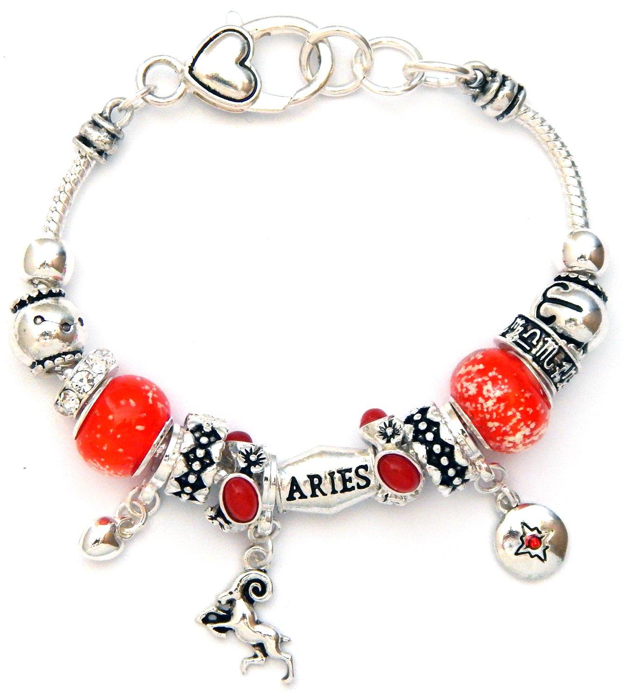 Landau Ambrosia Aries Zodiac Charm Bracelet, Silvertone