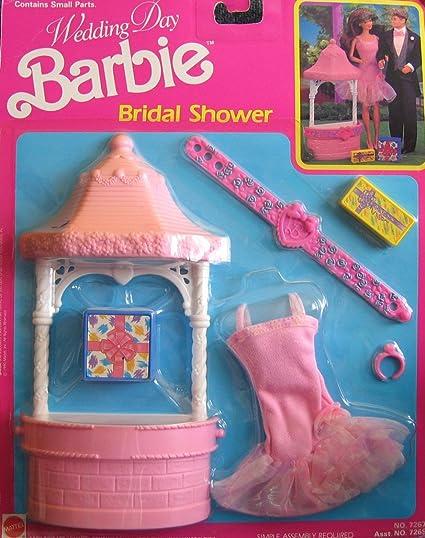 barbie wedding day bridal shower playset 1990 arco toys mattel