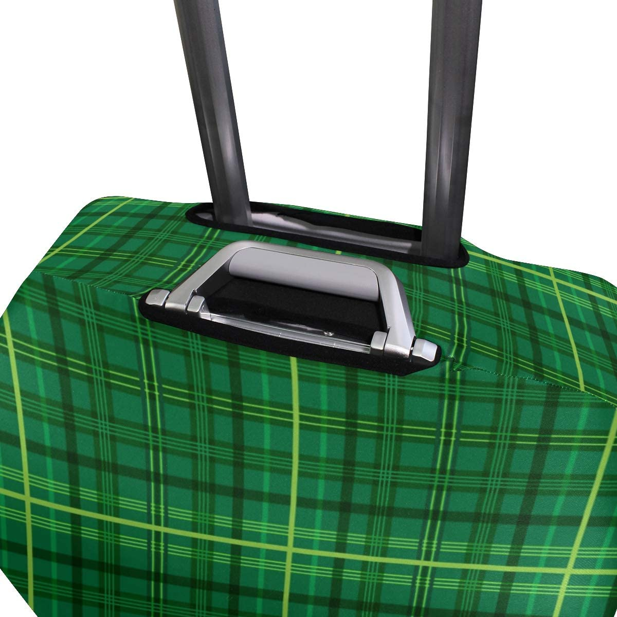 Cute Green Checked Print Luggage Protector Travel Luggage Cover Trolley Case Protective Cover Fits 18-32 Inch