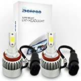 Safego 72W車用 H11 LED ヘッドライト 7200ルーメン H8 H9 高輝度 COB Cチップ搭載 LEDバルブ ホワイト DC 12V 新発売12ヶ月保証 C6-H8911