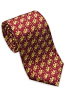 Josh Bach Mens Bicycles in Motion Silk Necktie in Red, Made in USA