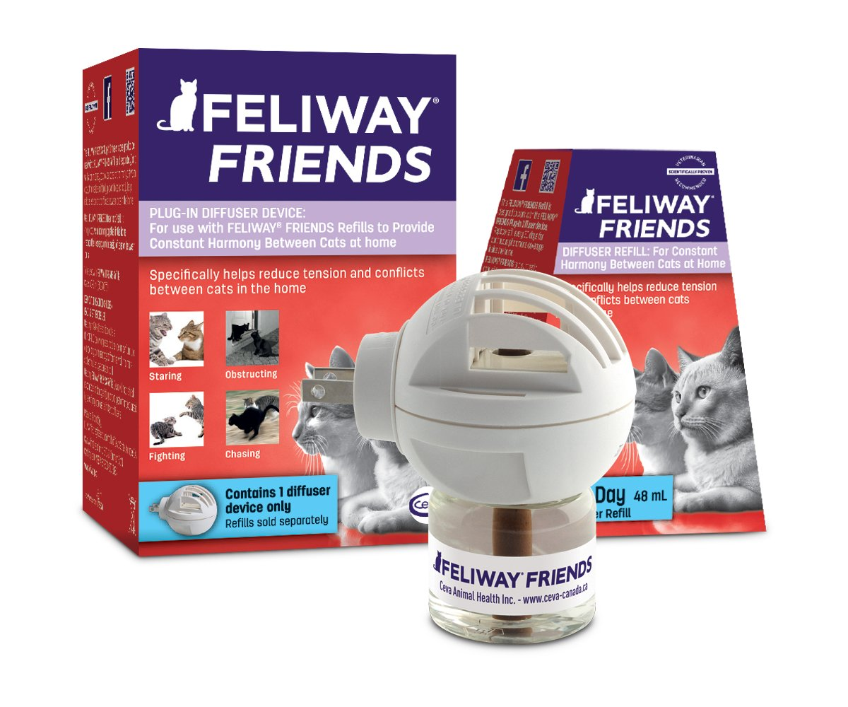 FELIWAY Friends Diffuser Starter Kit (FELIWAY MultiCat) Helps Reduce Fighting, Tension and Conflicts Between Cats in The Home (30 Day Starter Kit)