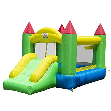 4e587adcd HOMCOM Kids Bouncy Castle Inflatable Bouncer Bounce House and Slide ...