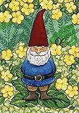 Toland Home Garden Garden Gnome 12.5 x 18-Inch Decorative USA-Produced Garden Flag