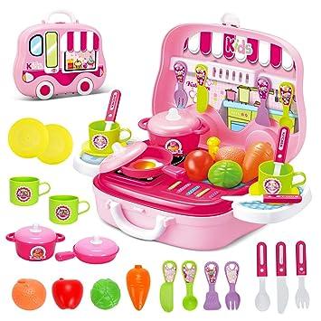 Rollenspiel Küche Spielzeug Kinder Kochen Lebensmittel Spielset ...