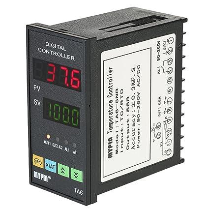 BAOSHISHAN TA6-SNR - Controlador de temperatura digital LED PID termómetro universal programable de refrigeración