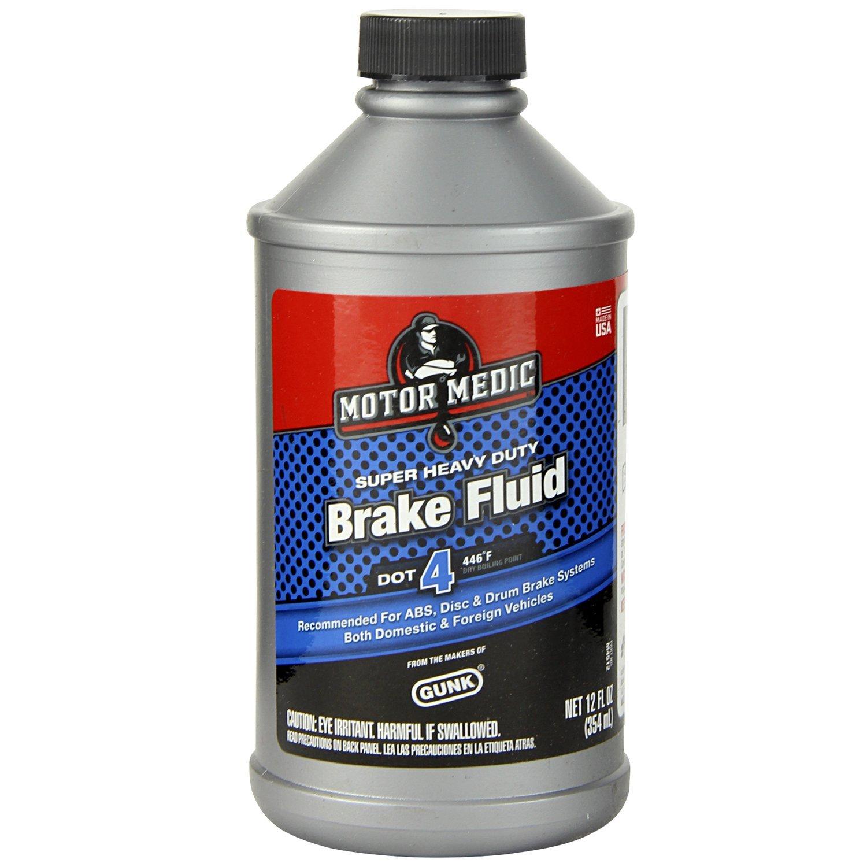 Niteo Motor Medic M4512/6-6PK DOT 4 Super Heavy Duty Brake Fluid - 12 oz, (Case of 6) by Niteo