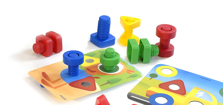 Miniland Nuts /& Bolts Learning Playset Miniland Educational Corp 45303