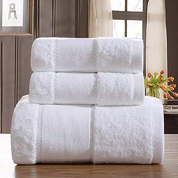 Toallas de baño de toallas de hotel de cinco estrellas oro blanco de 100% bordado