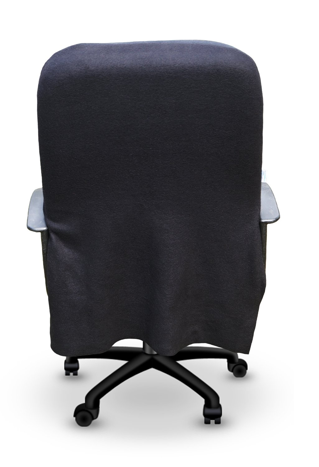 Office chair slipcovers - Amazon Com Cover For Office Computer Desk Chairs Solid Black Chair Slipcover Removable Washable Made In America The Chirt Kitchen Dining