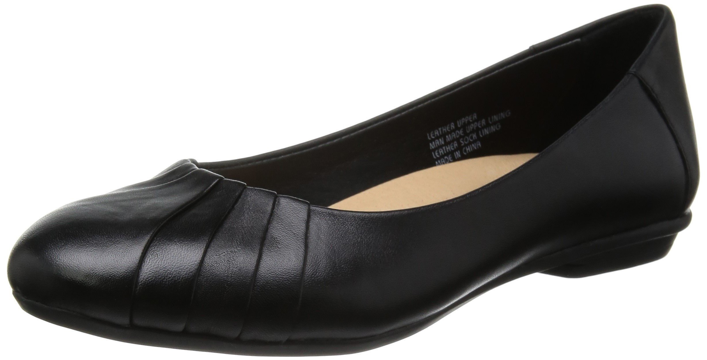 Earth Women's Bellwether Flat,Black Calf Leather,12 M US