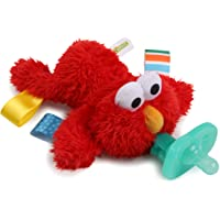 Bright Starts Sesame Street Cozy Coo BPA-Free Pacifier with Plush Toy - Elmo, Ages 0-12 months