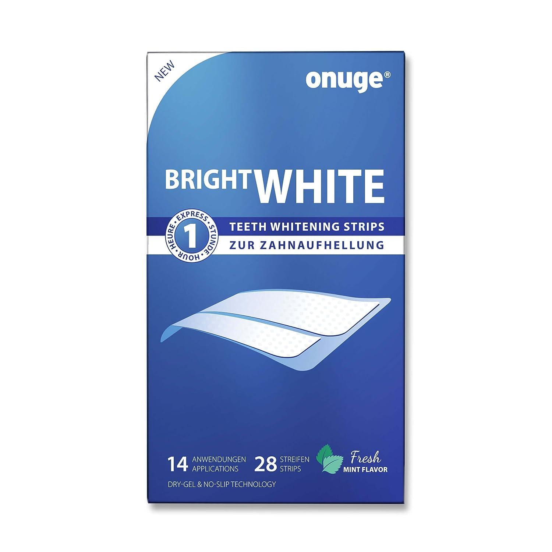 onuge Bright White Stripsi Strisce sbiancanti per denti Confezione da 28 pezzi Amazon Salute e cura della persona