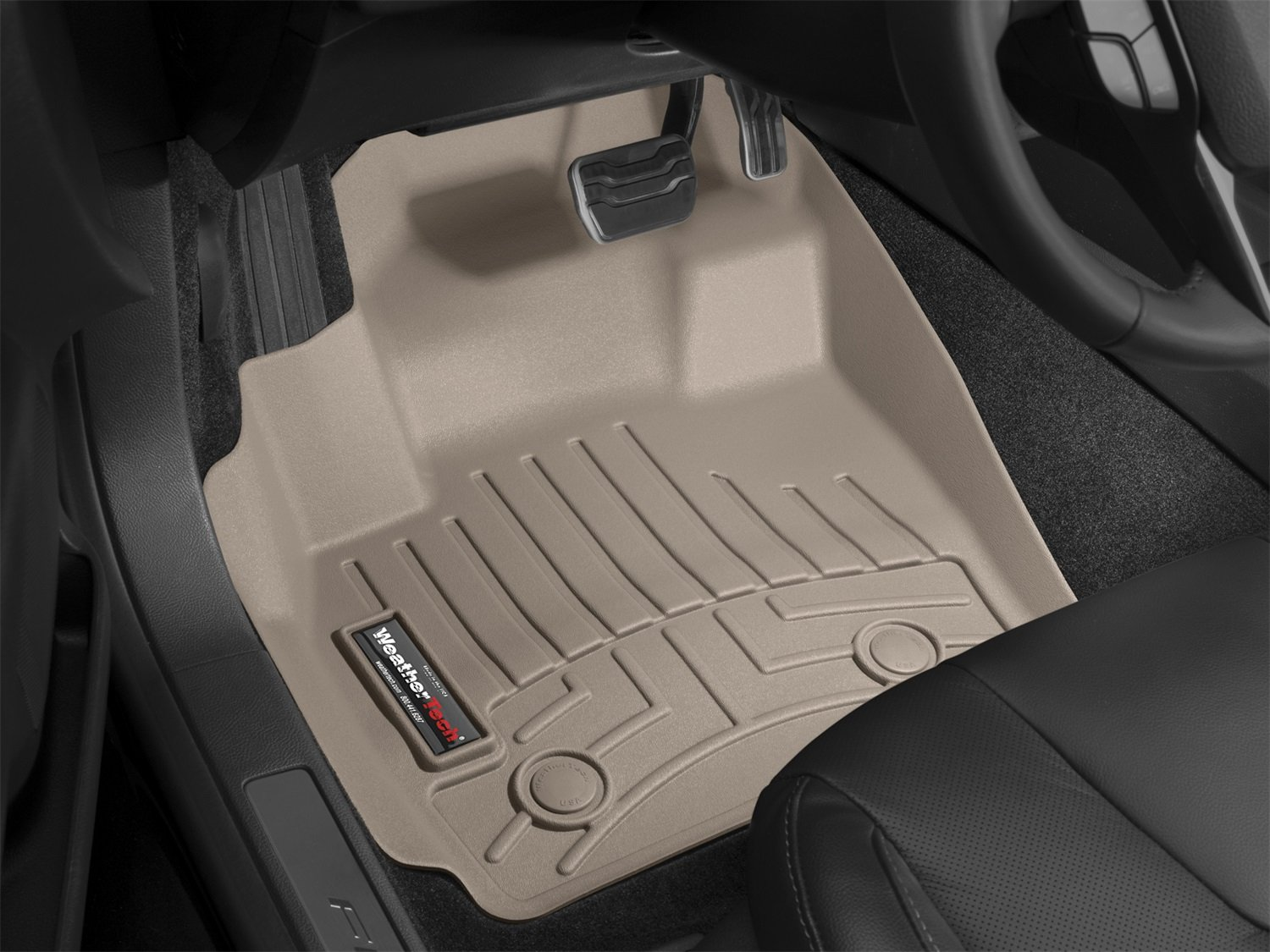WeatherTech Custom Fit Front FloorLiner for Honda Fit, Tan 451811