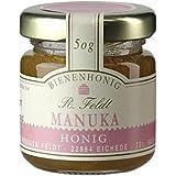 Manuka-Honig (Teebaum), Neuseeland, dunkel, flüssig, kräftig, Portionsglas, 50g