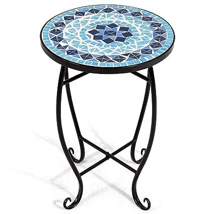 Plante Support A Fleurs Table En Mosaique Ronde Table D