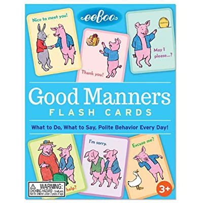 eeBoo Good Manners Flash Cards for Kids: Toys & Games