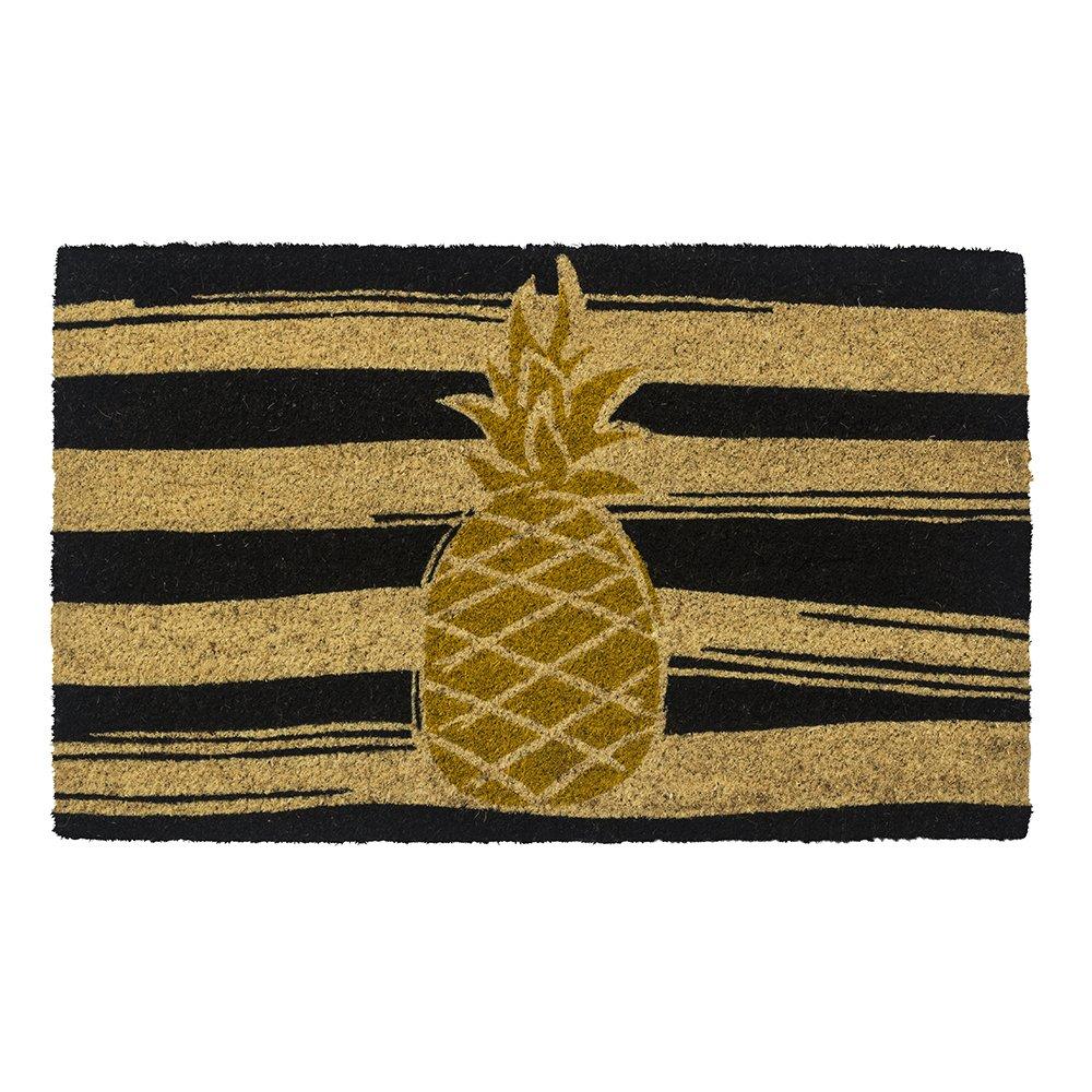 Entryways Golden Pineapple, Non- Slip Coconut Fiber Doormat 17'' X 28'' X .5''