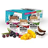 Health Warrior Chia Bars Variety Pack, Coconut/Acai Berry/Mango, 15 Count