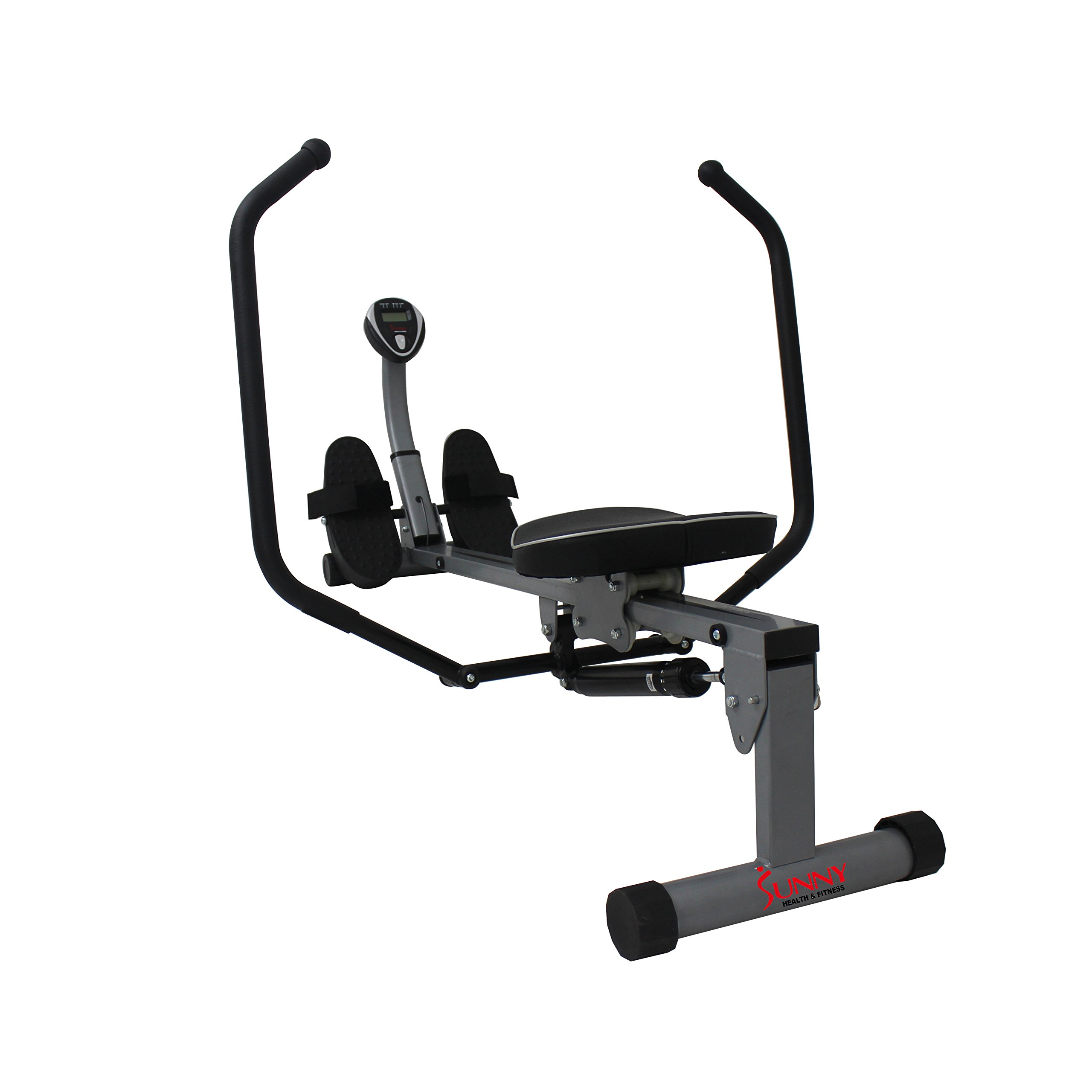 Sunny Health & Fitness SF-RW1410 Rowing Machine Rower with Full Motion Arms and LCD Monitor by Sunny Health & Fitness (Image #9)