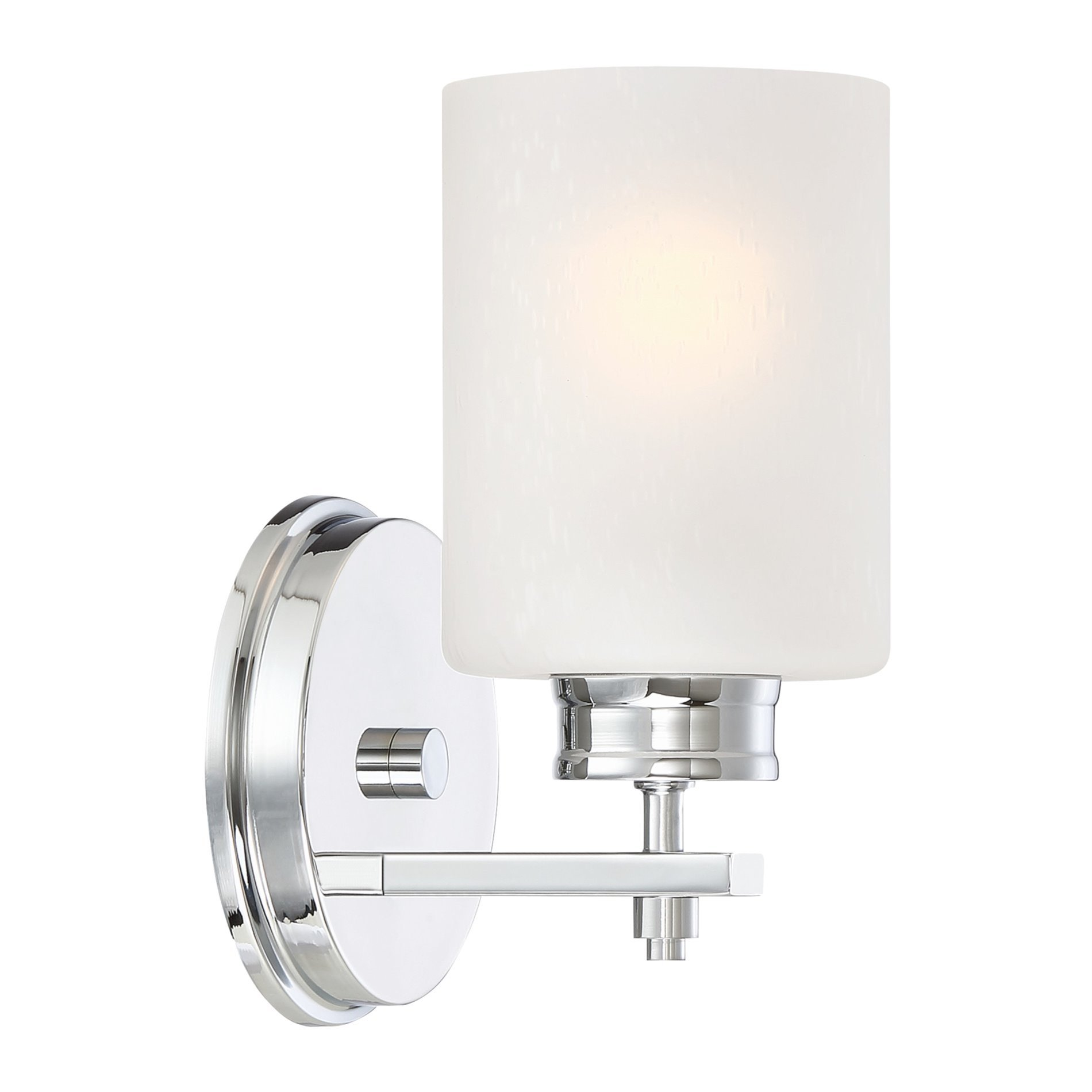 Kira Home Phoebe 8'' Wall Sconce/Wall Light + Frosted Bubble Glass Shade, Chrome Finish by Kira Home