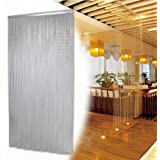 Metal Chain Link FLY Pest Insect Door Screen Curtain Control Aluminium Silver